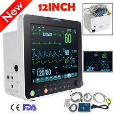 Lcd 12 Icu Ccu Vital Signs Patient Monitor 6 Paras Spo2prnibpecgresptemp