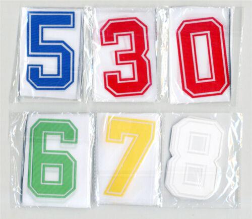 Iron-On Heatpress Bold Font Blue Number Football Baseball Sports Kids T-Shirt