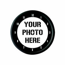 CUSTOM PERSONALISED PROMOTIONAL PHOTO LOGO WALL CLOCK GIFT