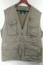 Orvis Olive Hunting Safari Fly Fishing Photographer Vest Sz XL Lots of Pockets!