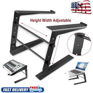 Folding-DJ-Laptop-Stand-Computer-Table-Top-PC-Rack-Clamp-Mount-Holder-PA-Gear