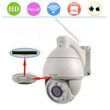 720 HD Wireless Outdoor 5X Zoom PTZ Dome Network IP Camera Wifi Webcam IR-CUT
