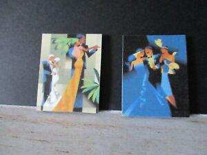 2 Maison De Poupées Miniature Imprime Nz14 Art Déco-afficher Le Titre D'origine