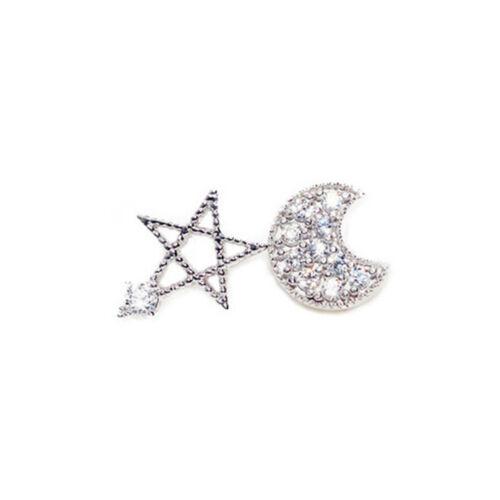 Bling Jewelry Micro Pave Cubic Zircon Nautical Starfish Huggie Star Hoop Earring