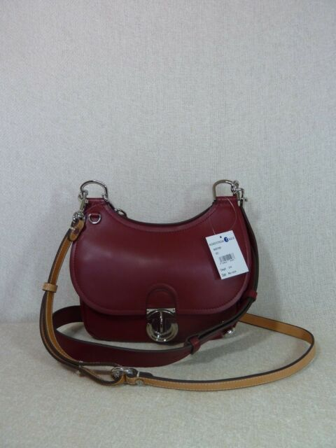 facc979b0e9e68 Tory Burch Coffee Berry Red James Small Saddle Bag for sale online ...