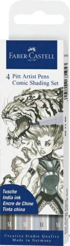 Faber Castell Encre pour le dessin crayon noir PITT artist pen BD Shading Set 4er Set B