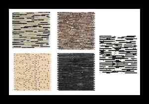 Das Bild Wird Geladen Design Naturstein Mosaik Streifen Braun  Beige Schwarz Naturstein