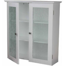 Merveilleux Bathroom Medicine Cabinet Wall Mount Hanging Storage 2 Shelves Glass Door  White