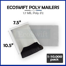 1 10000 75x105 Ecoswift Poly Mailers Envelope Plastic Shipping Bags 170 Mil