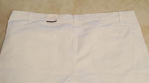 Womens White Plus Size Denim Shorts 18W-20W-24W-26W