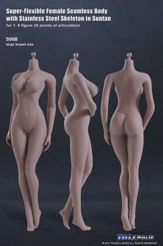 1//6 PHICEN S06B Female Seamless SUNTAN Figure Body L Bust Buttock Curved TBL