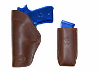 Barsony Brown Leather Iwb Holster + Mag Pouch Browning Colt Full Size 9mm 40