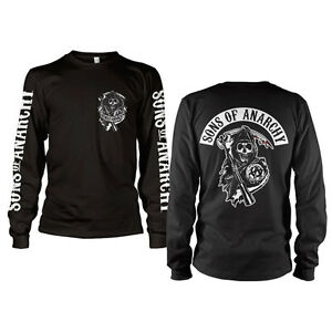 officially licensed sons of anarchy backpatch long sleeve. Black Bedroom Furniture Sets. Home Design Ideas