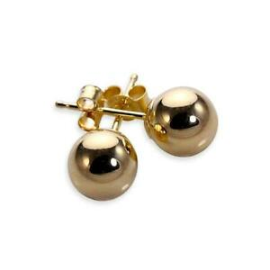 Details About 9ct Gold Plain Ball Stud Earrings 3mm 6mm
