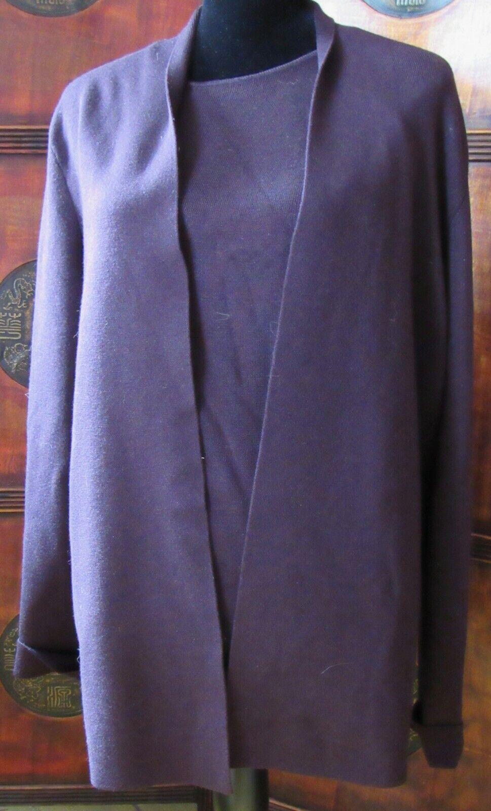 Woherren Sweaters 2 piece Ellen Tracy Cardigan,Coat (Größe X) & Shell(Größe L) NWT