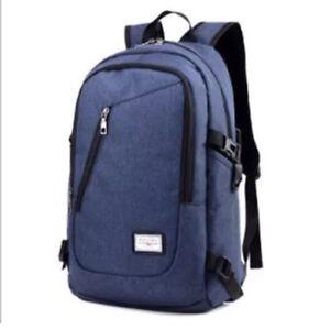 Mens Womens Laptop Backpack Rucksack Work Travel School Bags Uk Ebay