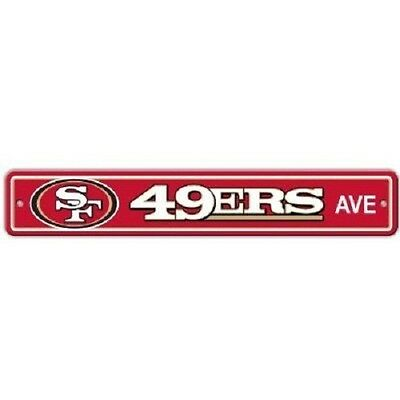 "NFL Football Street Sign Ave 4""x 24"" Pick Team"
