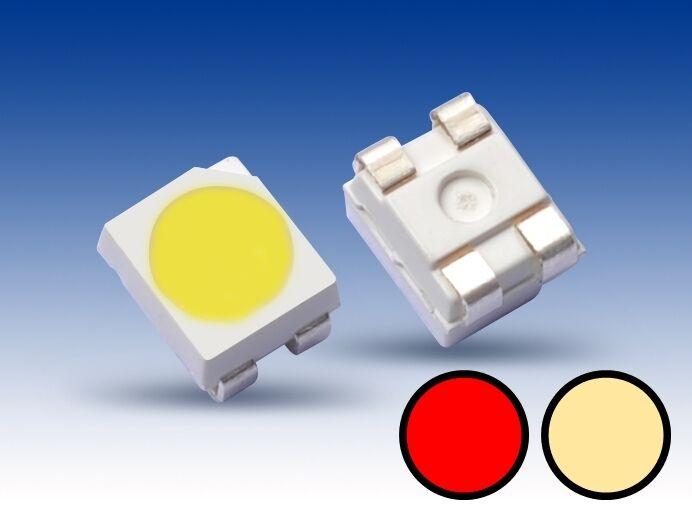 S669- 10 Stk DUO Bi-color LED SMD 3528 warmwhite   red Lichtwechsel Loks Wendezug