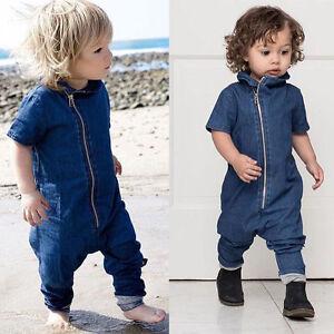 Denim-Newborn-Toddler-Baby-Boy-Bodysuit-Romper-Jumpsuit-Playsuit-Outfits-Clothes