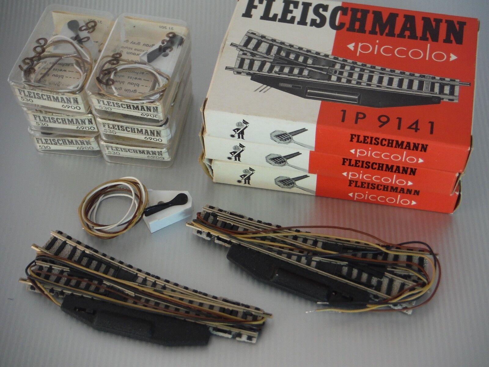Fleischuomon Piccolo Nr.1 coppia sx+dx di di di scambi elettrici art.9141 + nr.2 6900 462437