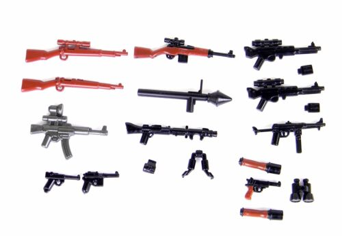 P2 German Weapons WW2 Army Pack Compatible With Toy Brick Minifigures Wehrmacht