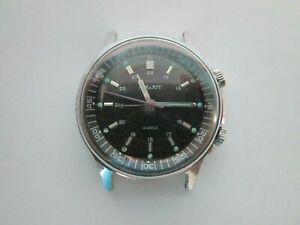 Vintage-Sowjetische-Armbanduhr-Poljot-2612-1-Signal-Alarm-18-Jewels-UdSSR-mechanisch