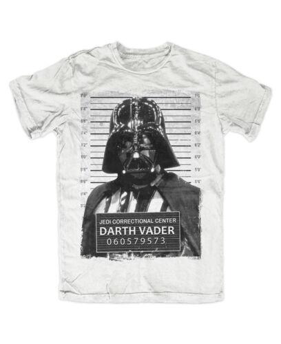 Vader Mugshot T-Shirt weiß Kult,Fun,lustig