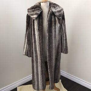 crème et marron fourrure fausse en vintage Manteau xR6qgYc