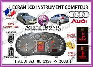 ECRAN LCD COMPTEUR ODB AUDI A2 A6 A4 TT en  48h//// A3