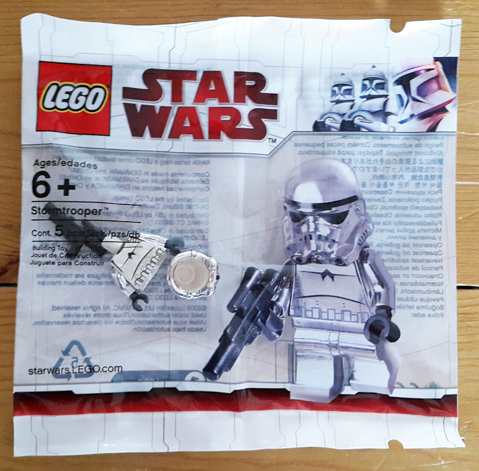 LEGO Star Wars Chrome Stormtrooper Minifig - New, Sealed Sealed Sealed Polybag 2853590 4591726 a580ba