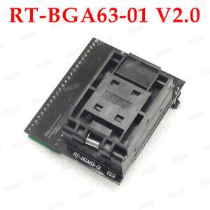 Details about RT-BGA63-01 Adapter V2 0 EMMC NW267 BGA63 0 8mm Socket for  RT809H Programmer