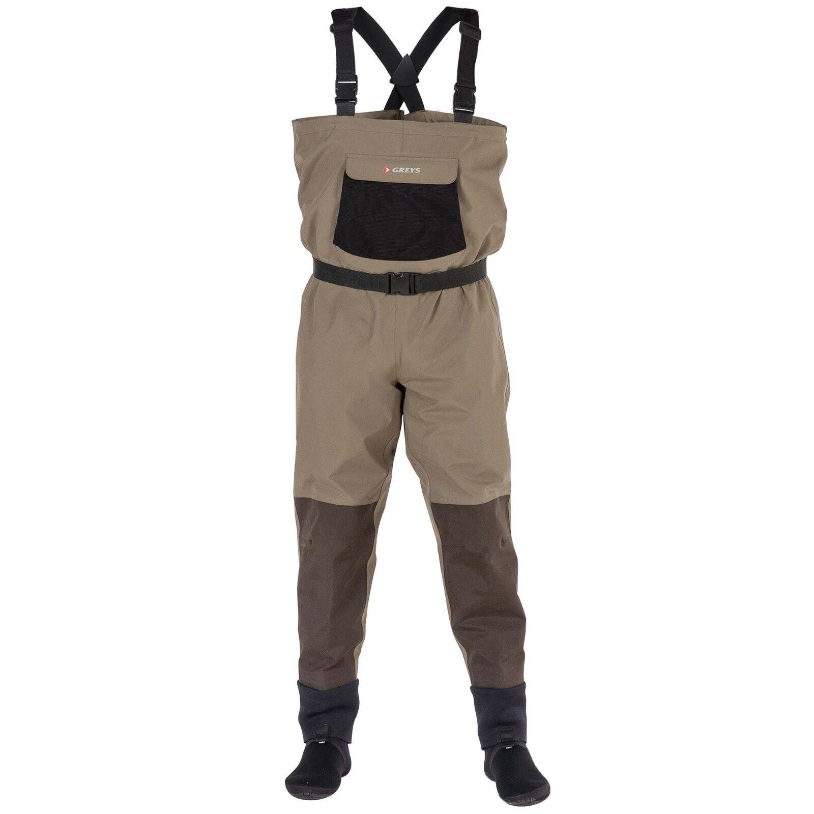 grigios STRATA CTX Impermeabili TRASPIRANTE CON füßlingen Watt Pantaloni Wat Pantaloni Pantaloni Angel