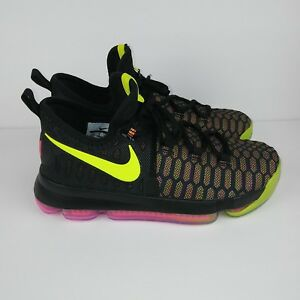 6291eb5e30a NIKE Zoom KD 9 Shoes Unlimited Olympic Black Multi-Color Kids GS ...