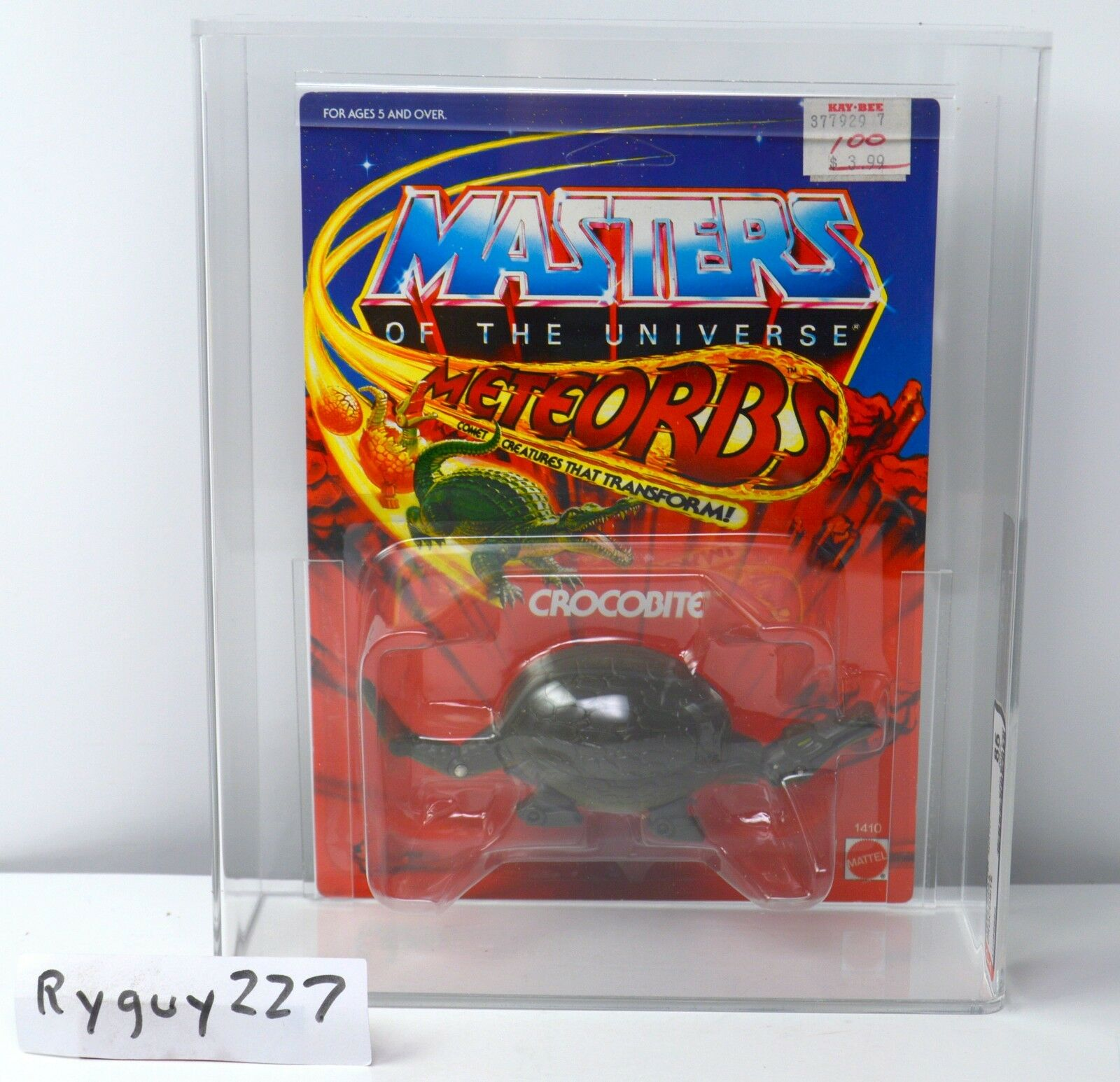 MOTU, Crocobite, AFA 85, graded, Masters Masters Masters of the Universe, MOC, Meteorbs, sealed 50934a