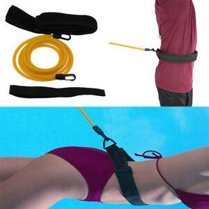 Swim-Bungee-Training-Belt-Kit-Swimming-Resistance-Safety-Leash-Exerciser-Tether