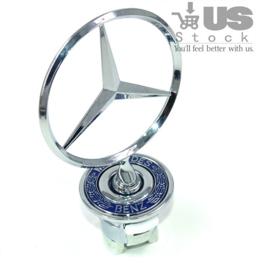 For Benz Emblem Hood Mount Badge Ornament Upright Standing Star W210 W220 W221