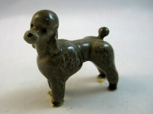 Details about Hagen Renaker miniature made in America Poodle grey retired