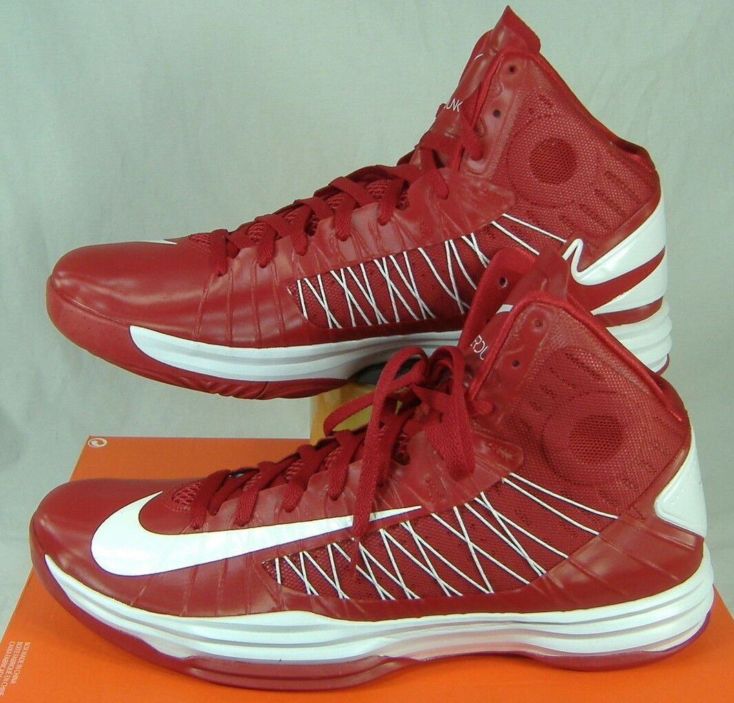 New Mens 17 NIKE Hyperdunk TB Red Basketbell White High Top Basketbell Red Shoes 140 524882-601 102b2f