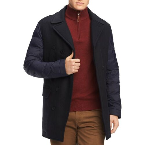 TOMMY HILFIGER Men/'s Grant Puffer-sleeve Utility Pea Coat Jacket TEDO