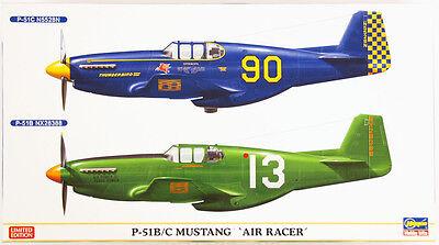 """Hasegawa 02155 P-51B/C Mustang """"Air Racer"""" (2 planes) 1/72 sale kit AKS"""