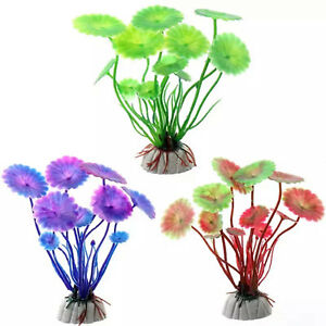 Artificial-Fish-Tank-Plants-Aquarium-Aquatic-Decoration-Ornament-Grass-Flower-UK