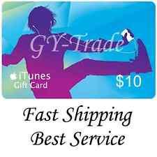 Apple iTunes $10 US Gift Card Carte Code Voucher Certificate USA USD iTune FAST