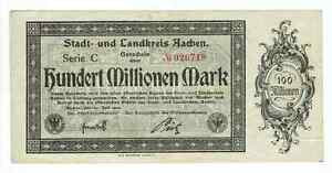 GERMANY-BANKNOTE-100-MILLION-MARK-STADT-AACHEN-1923