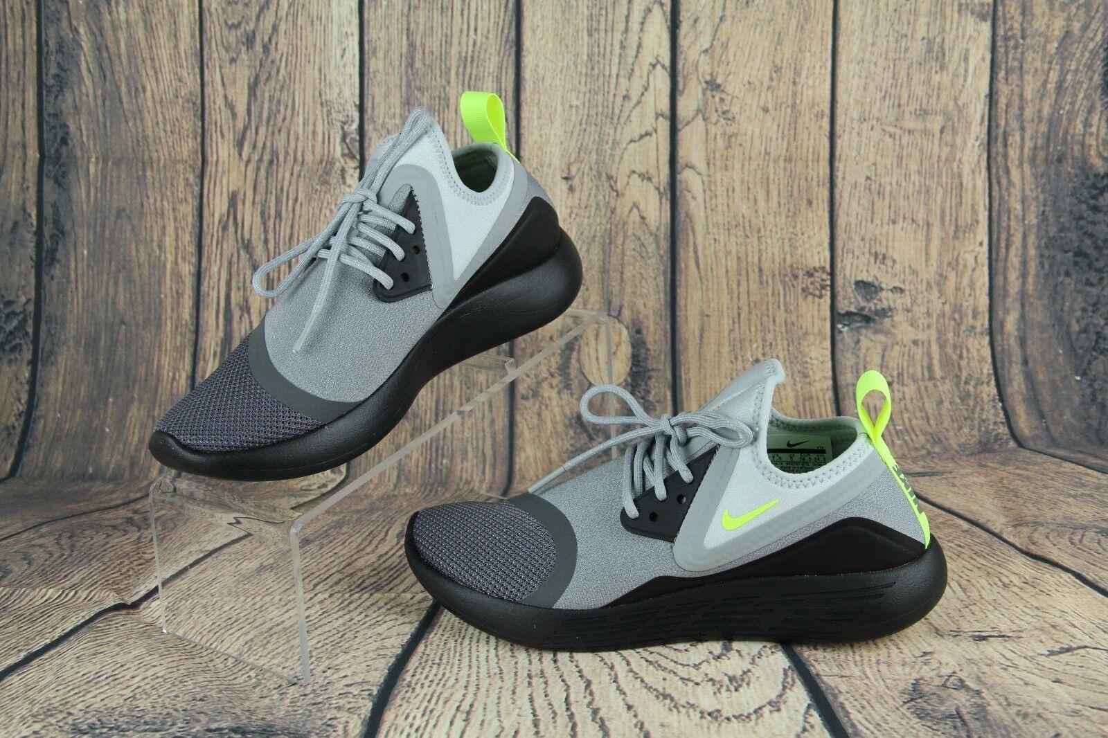 Nike Lunarcharge BN Air Max 95 OG Gray Black Volt 933797-070 Womens Size 7.5