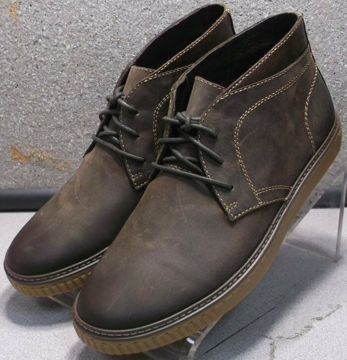 252816 MSBT50 Men's shoes Size 9 M Brown Leather Leather Boots Johnston Murphy