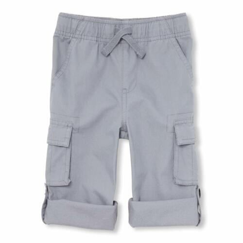 The Children/'s Place Toddler Little Boys Roll Up Elastic Waist Solid Cargo Pants