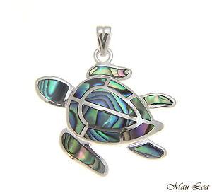 925-Sterling-Silver-Hawaiian-Honu-Sea-Turtle-Abalone-Paua-Shell-Pendant