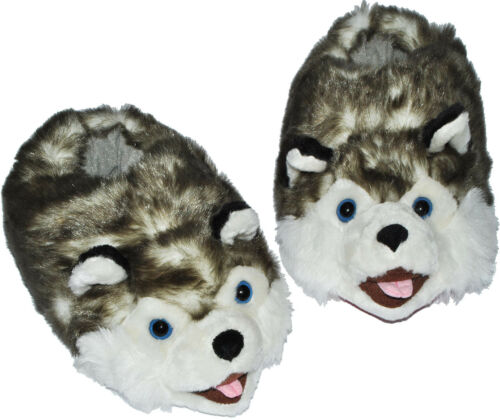 "Size Size 29 to 48 Plüschhausschuh /"" Dog Husky /"" House Shoe//Slippers"