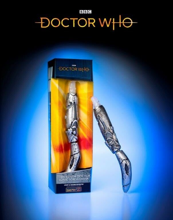 "Doctor Who 13th Doctor Sonic Screwdriver Thirteenth ""IN HAND"" (SDCC 2018)"