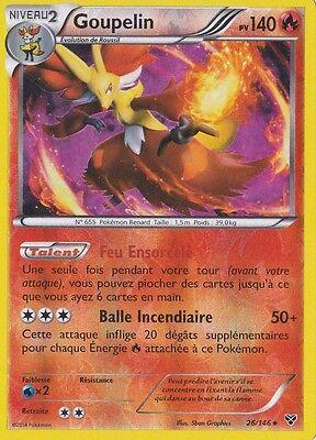 Goupelin Reverse Carte Pokemon Neuve Française 26//146 XY